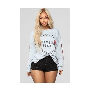 New Fashion Nova Oversized Graphic Sweatshirt